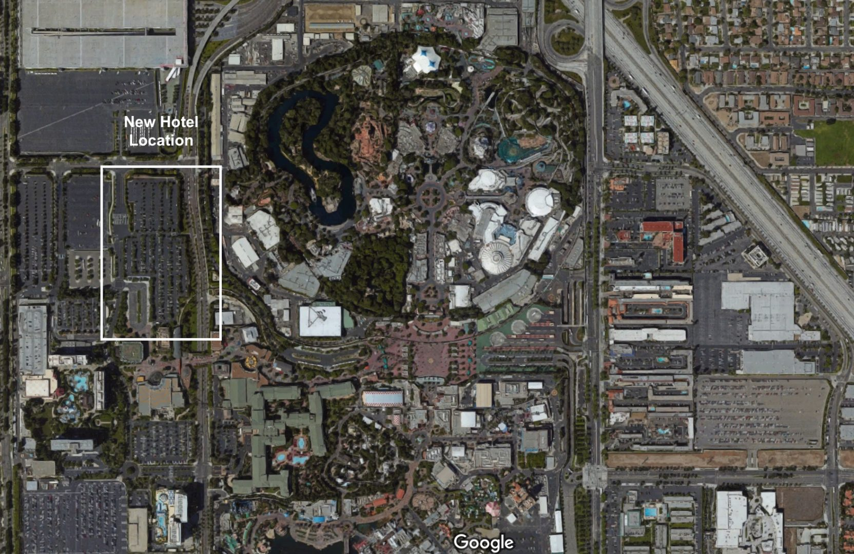 Downtown Disney Hotel Map on