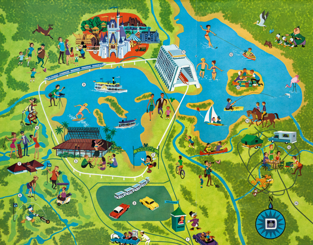 Walt-Disney-World-Map-1971 - MiceChat