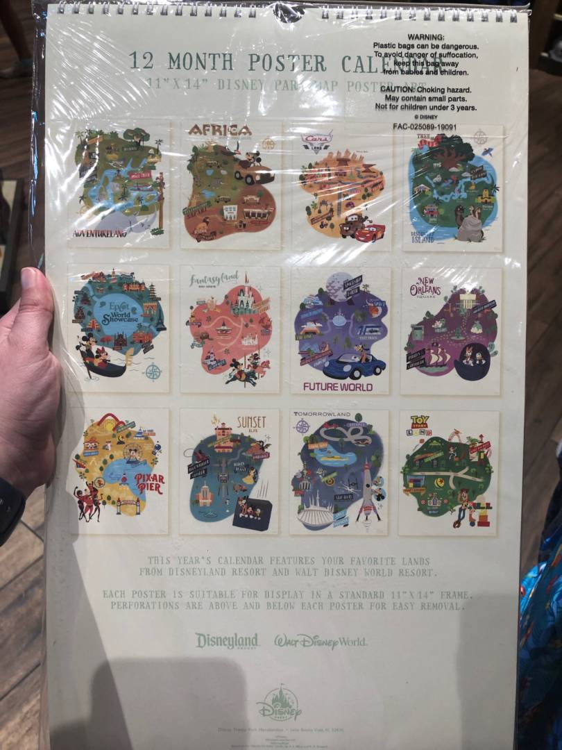 Disneyland Calendar 2020.Disney Parks 2020 Calendar Back Micechat