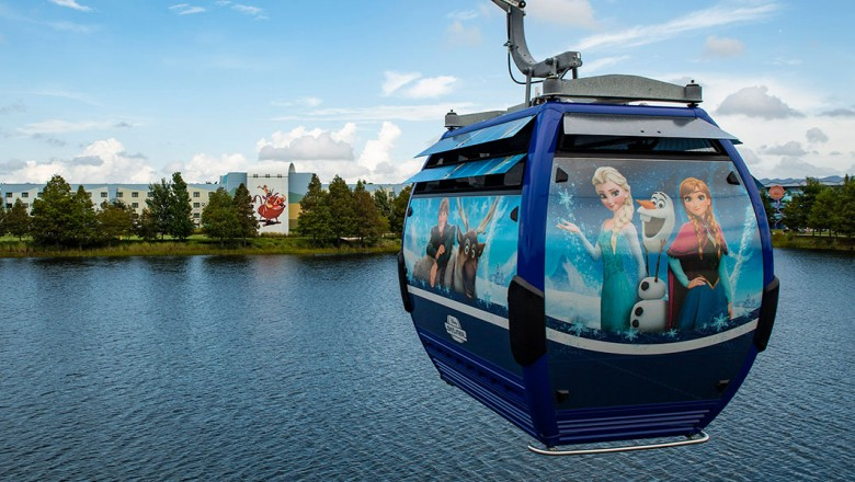 Park-goers got stuck on Disney World's new aerial cable cars